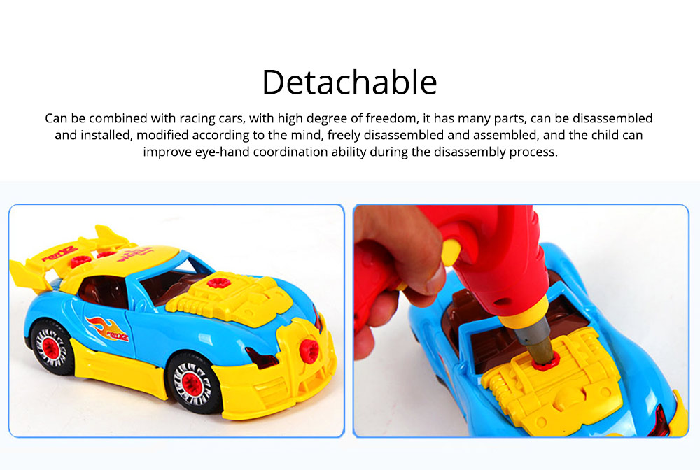 Baby Child Christmas Gift Kids Boy Disassembly Assembly Classic Drive Car Toy Detachable Electric Screwdriver 4