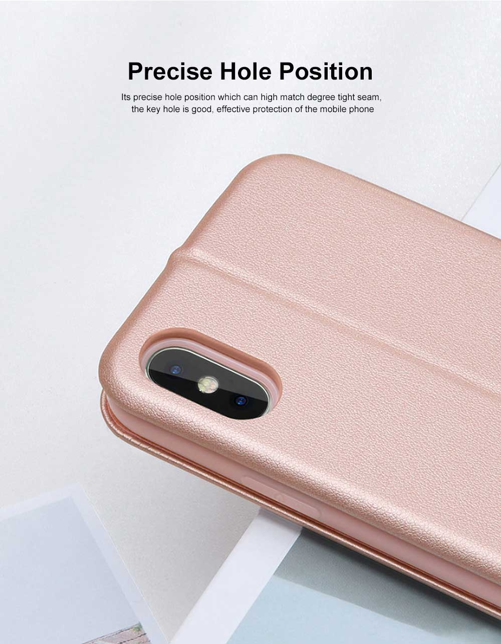 Flexible & Wear-resistant Arc Border Protection Clamshell Mobile Phone Shell with Genuine Leather Protective Back Cover For iPhone X XS, XS Max, 6 6S, 6S Plus XR 7 8, 8 Plus 4