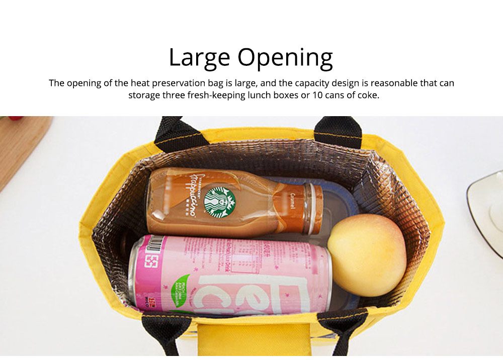 Unisex Heat Preservation Bag for Women Thickened Aluminum Foil Large Size Waterproof Lunch Bento Insulation Bag Handbag 4