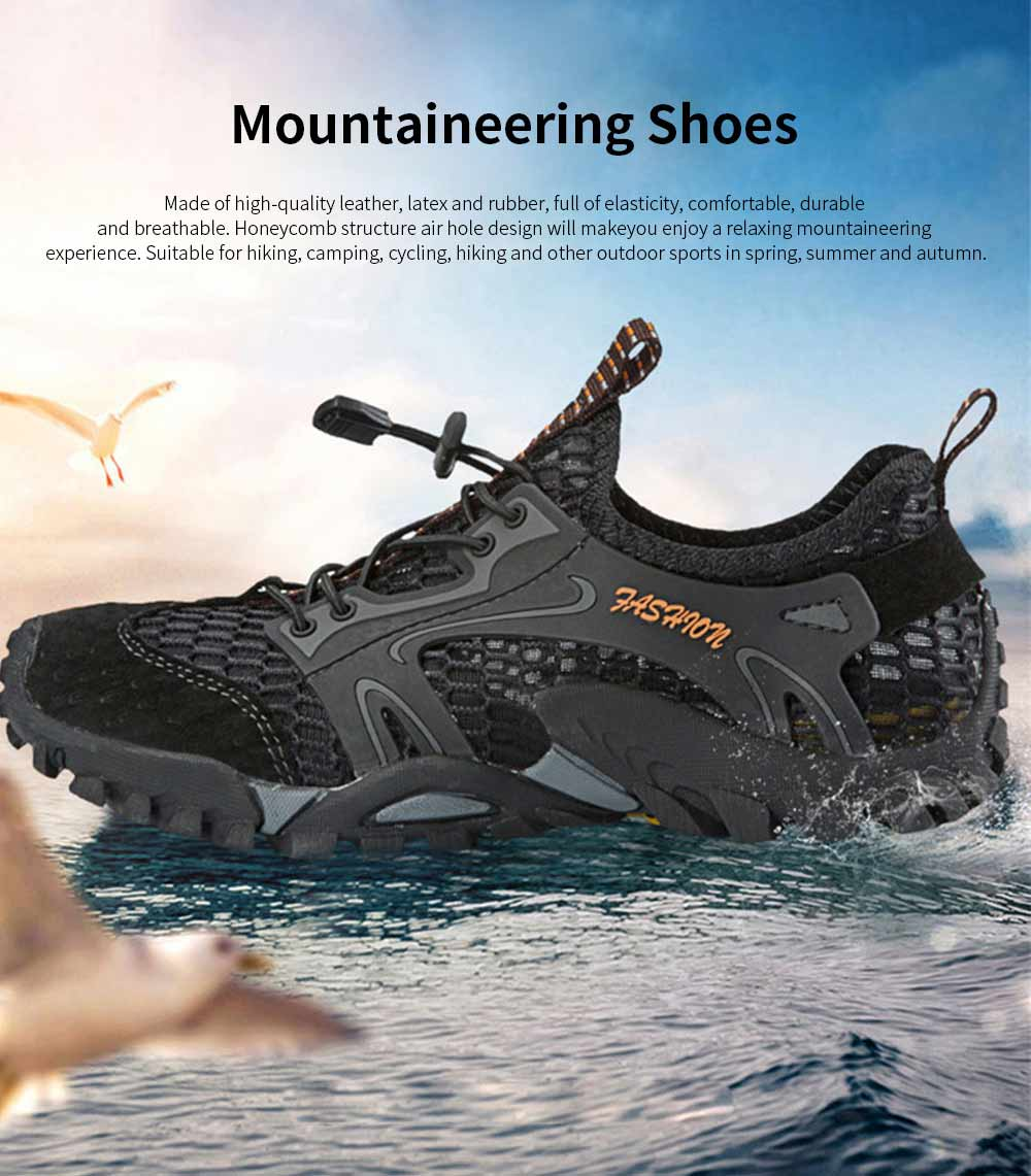 Breathable Mountaineering Shoes for Men, Anti-Slip Hiking Shoes Comfortable & Durable Hiking Shoes 0