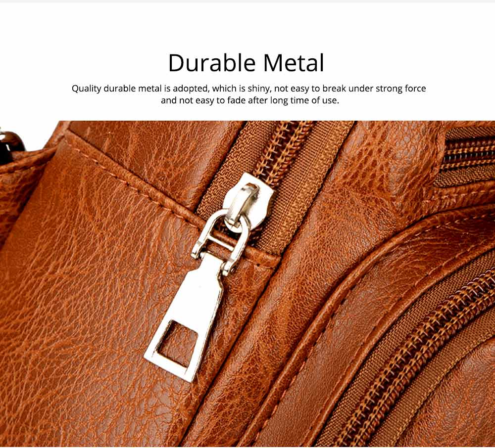Minimalist Fashion Casual Outdoors Men Chest Bag, Ultra-soft Waterproof PU Leather Business Sport Shoulder Bag with Charging Port Earphone Hole 4