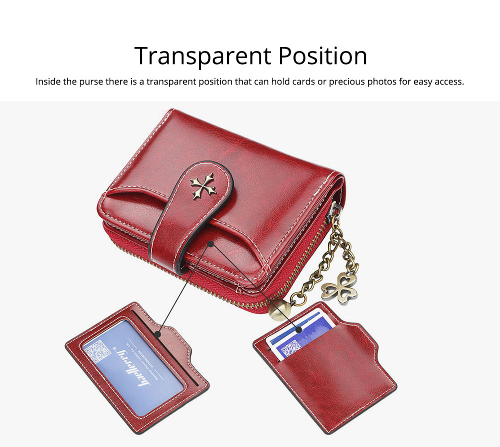 Baellery Short Purse for Women, PU Leather All-match Fashion Coin Purse Tassel Zipper Handbag Wallet 2019 New 7