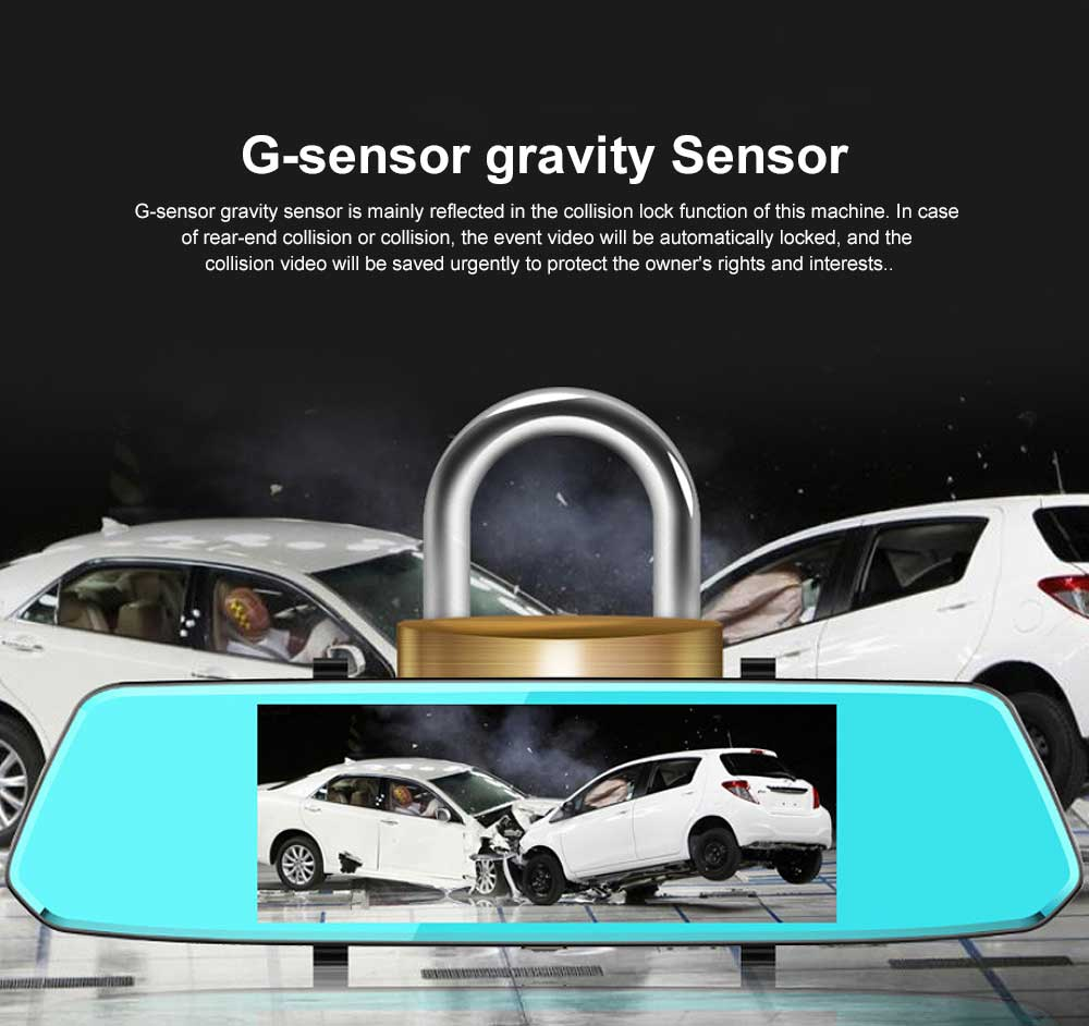 7 inch IPS Rear-view Mirror Recorder Equipped with Touch Function of 1080P High-definition Dual Recording 5
