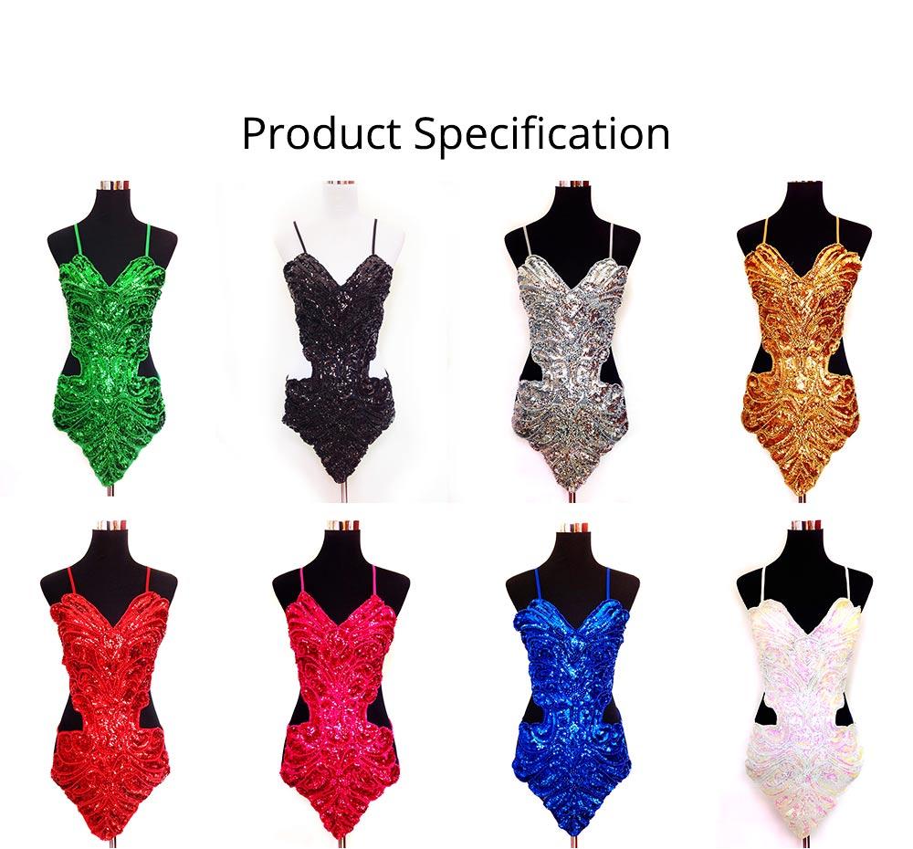 Sexy Stylish Shiny Paillette Butterfly Model Performance Wear, Soft Mesh Polyester Lace-up Backless Party Wear 6