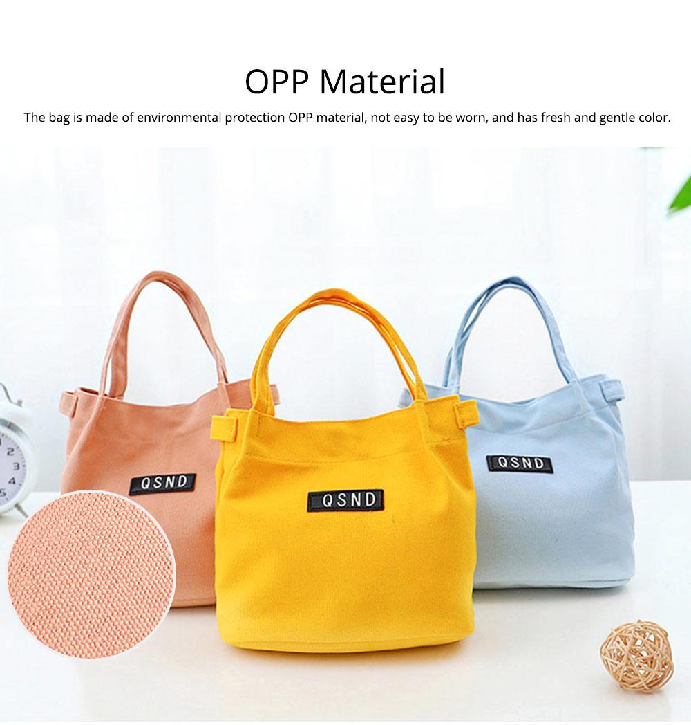 Canvas Bag Environmental Protection Portable Folding Simple Style Hand Bag Compartments Bento Bag 1