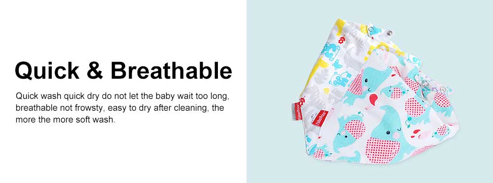 Ultra-soft Baby Bib & Cotton Super Soft Triangle Towel with Double Layer, Thickened, Double Buckle Design 4