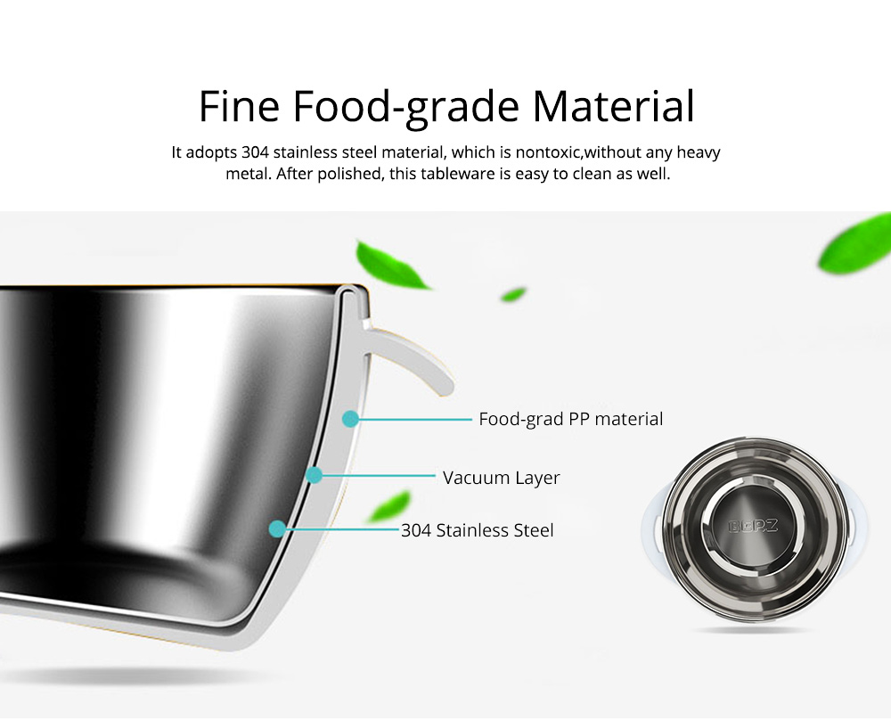 Lovely Cartoon 304 Stainless Steel Tableware for Kids, 5 in 1 Portable Cute Superior Food safe Material Spoon, Fork and Bowl 2