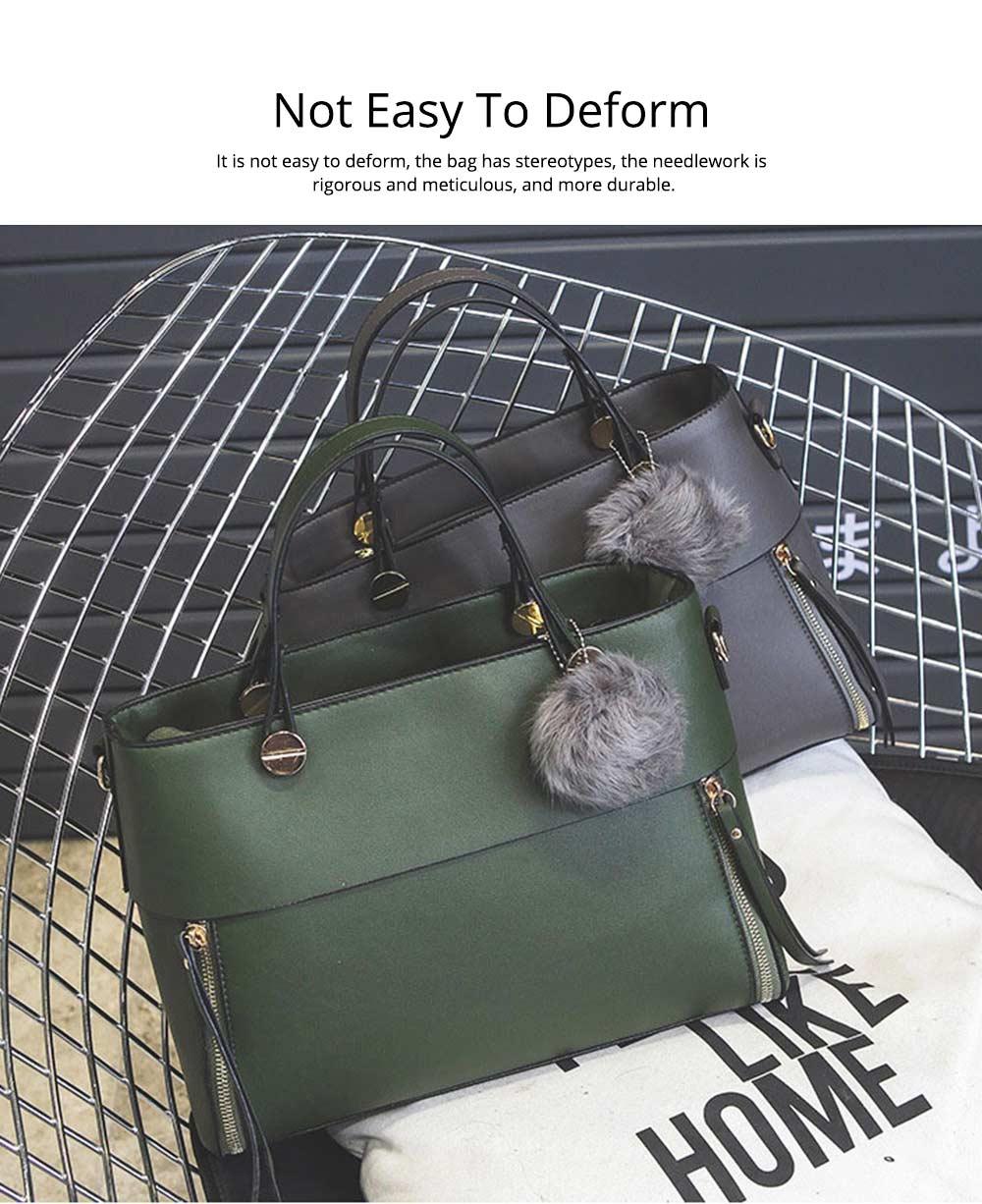Lady Handbag PU Fashion Simple Hand Big Bag Shoulder Messenger For Women Middle-aged Mother 9