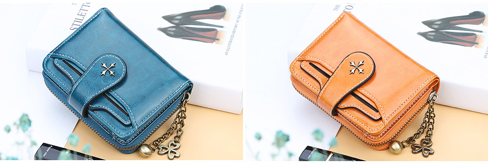 Baellery Short Purse for Women, PU Leather All-match Fashion Coin Purse Tassel Zipper Handbag Wallet 2019 New 5