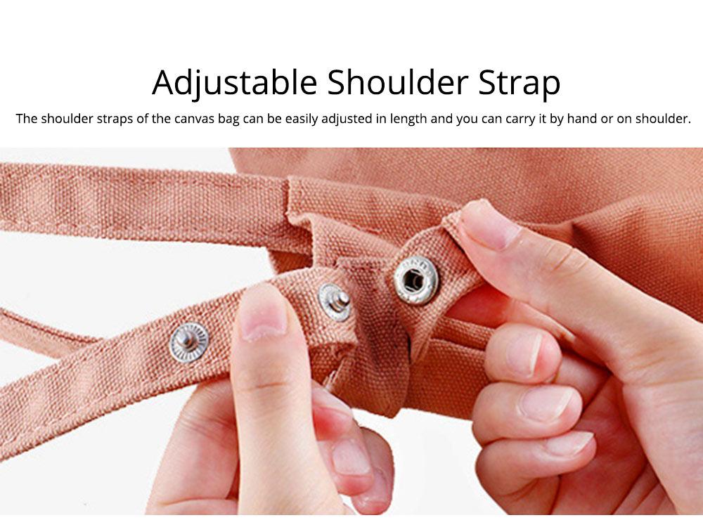 Canvas Bag Environmental Protection Portable Folding Simple Style Hand Bag Compartments Bento Bag 3