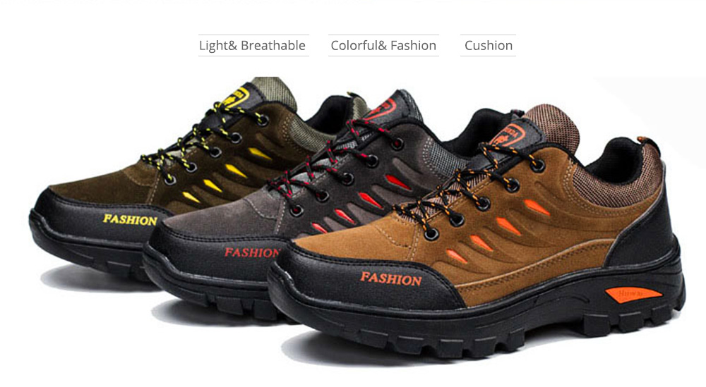 Outdoors Casual Traveling Men Hiking Shoes, Wearable Anti-slip Walking Trekking Sneakers for Men 2