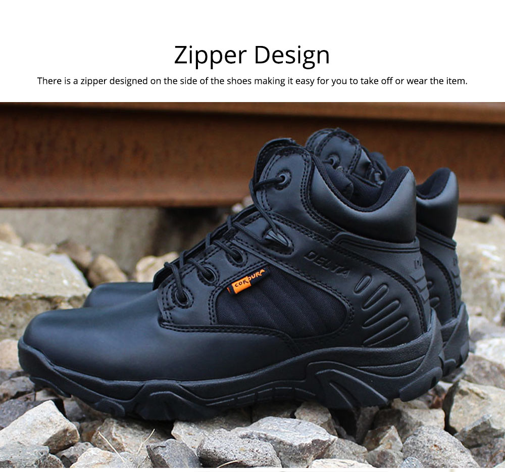 Unisex Comfortable Outdoors Low-cut Army Boots, Waterproof Breathable Combat Tactical Hiking Desert Shoes for Women Men 4