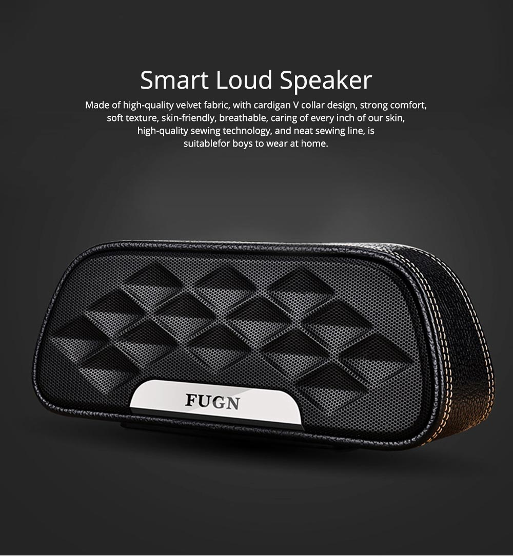 Portable Outdoor Smart Bluetooth Speaker, Full-grain Cow leather Superior Texture Touch Control Loud Speaker Box for Square Dancing 0