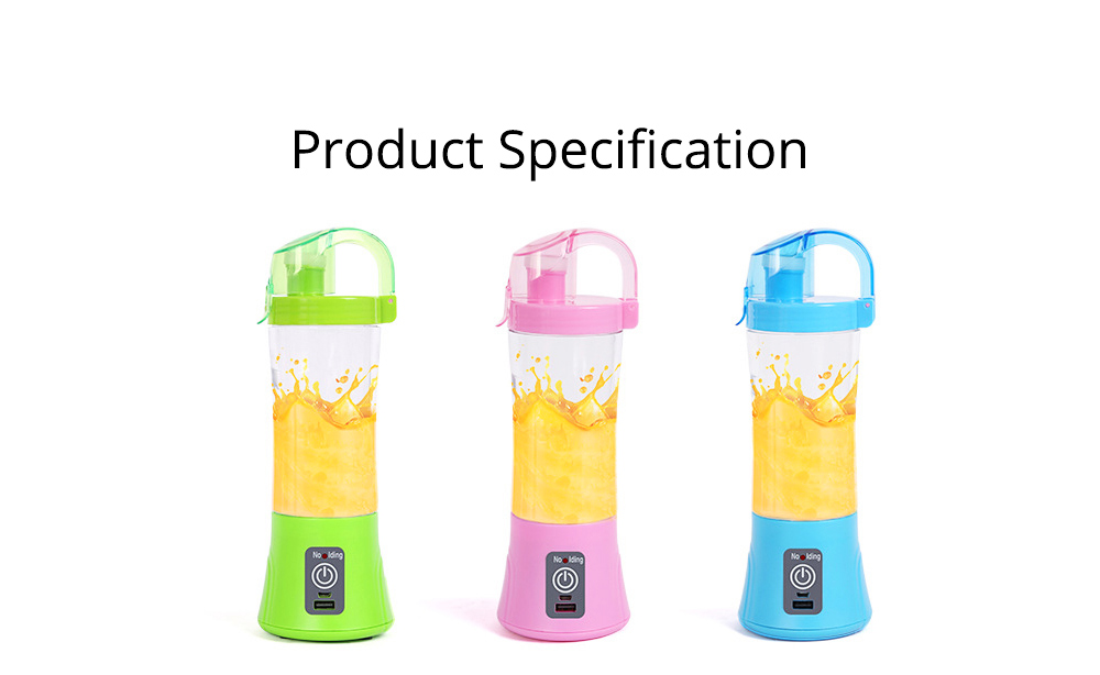 Portable Handy Household Electric Juicer, Multifunctional Juice Extractor Kitchen Tools with Power Bank Function 6