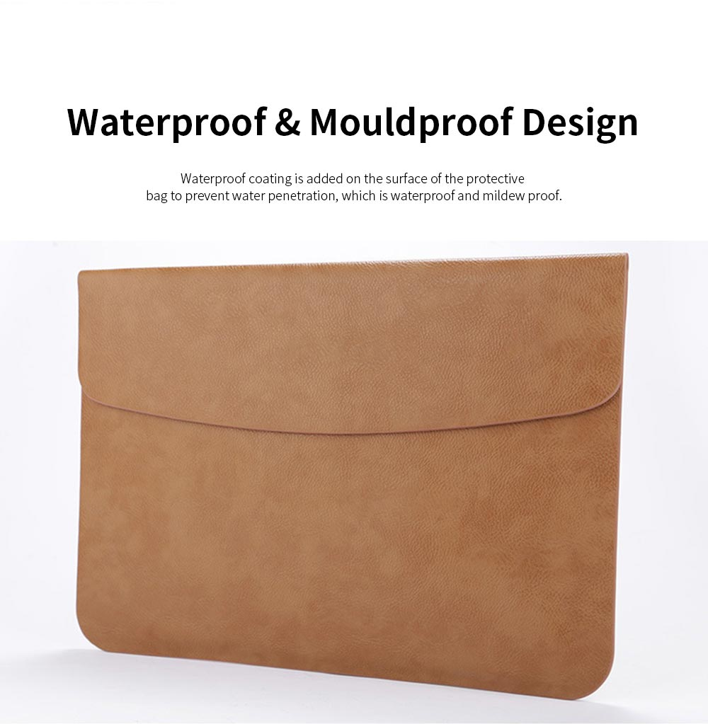 MacBook Pro Air Protective PU Case for Apple MacBook Air, Slim Lightweight Bag for Laptop, All-inside Synthetic Leather Sleeve for MacBook Air Pro 11 inch 12 inch 13 inch 15 inch 15.4inch 3