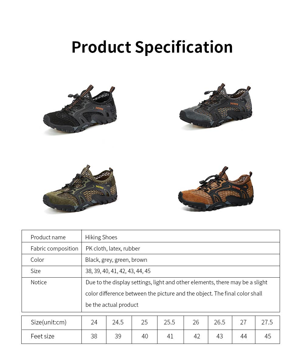 Breathable Mountaineering Shoes for Men, Anti-Slip Hiking Shoes Comfortable & Durable Hiking Shoes 7