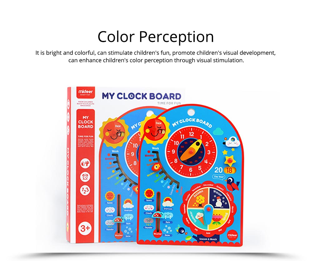 Calendar Wooden Clock Puzzle Hanging Board Multifunctional Daily Learning Digital Season Cognitive Children Toys for 3 to 6 years kids 6