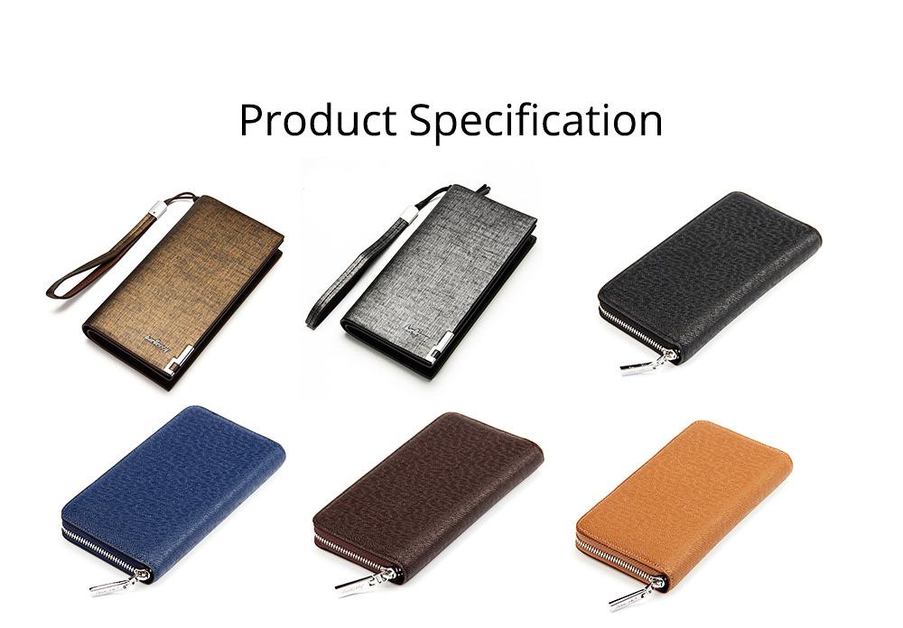 Baellerry Long Wallet for Men PU Leather Large Capacity Zipper Multiple Card Position Change Bag Handbag 7