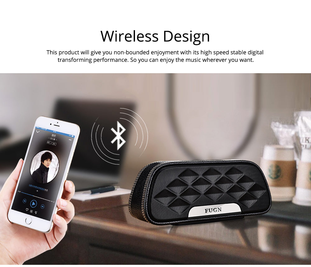 Portable Outdoor Smart Bluetooth Speaker, Full-grain Cow leather Superior Texture Touch Control Loud Speaker Box for Square Dancing 4