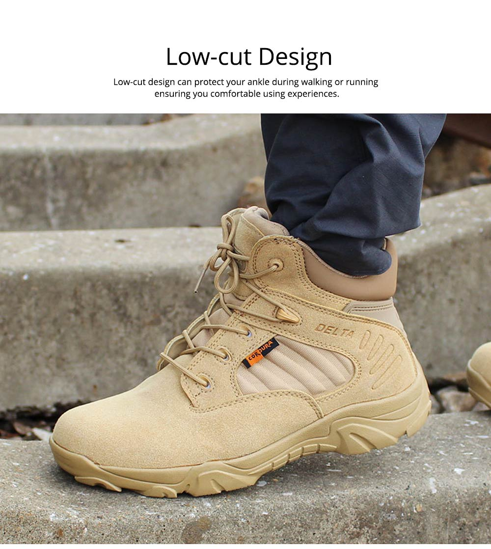 Unisex Comfortable Outdoors Low-cut Army Boots, Waterproof Breathable Combat Tactical Hiking Desert Shoes for Women Men 3