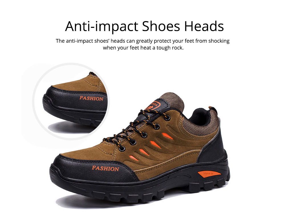 Outdoors Casual Traveling Men Hiking Shoes, Wearable Anti-slip Walking Trekking Sneakers for Men 5