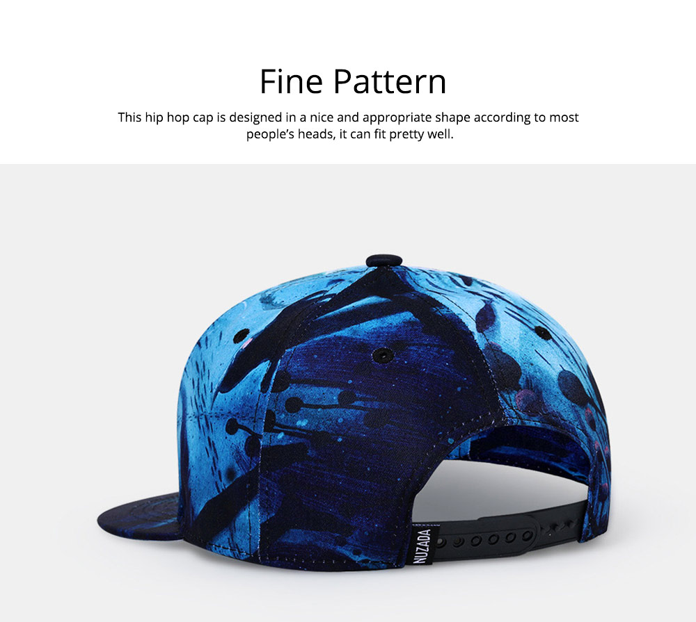 2019 Latest Baseball Cap for Men and Women, Neuter 3D Printing Style Outdoor Fashionable Hip Hop Cap Breathable 3