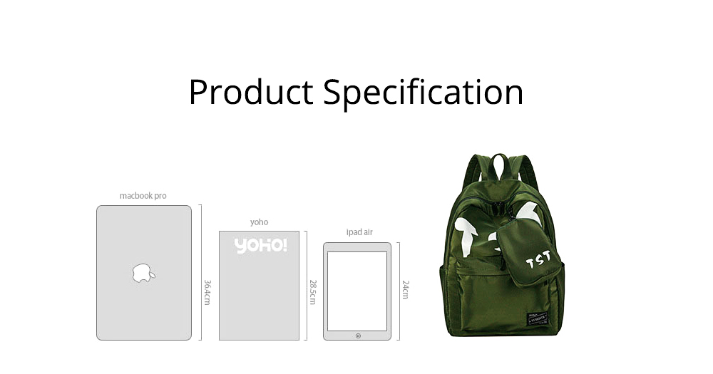 Fashion School Bag with Zipper Student Backpack, Individuality Large Capacity Universal Letters Couple Canvas Shoulder Bag  7