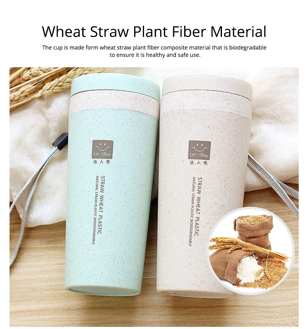 Creative Wheat Smell Cup Sports Cup for Outdoor Activity Use, Portable Plastic Advertising Cup, Wheat Straw Double Insulated Vacuum Cup 1
