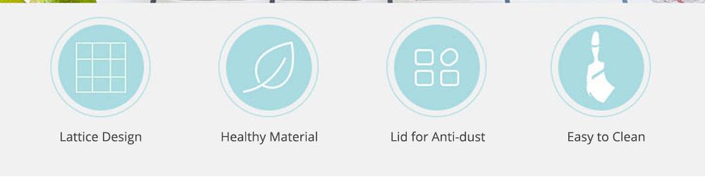 96 Grid Ice Lattice Mould with Cover, Sealed Crisper DIY Ice, Multiple Sub-box Ice Lattice Mold Ice-making Box 1