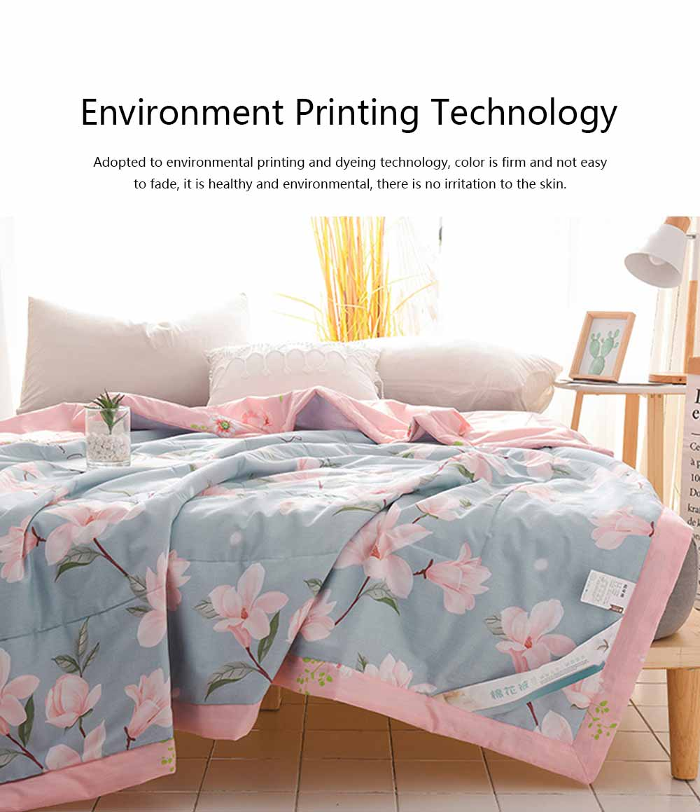 2019 Summer Quilt, Cotton Material Soft Environment Comforter Washing Machine Available, Softness Summer Refreshing Bedspreads 3