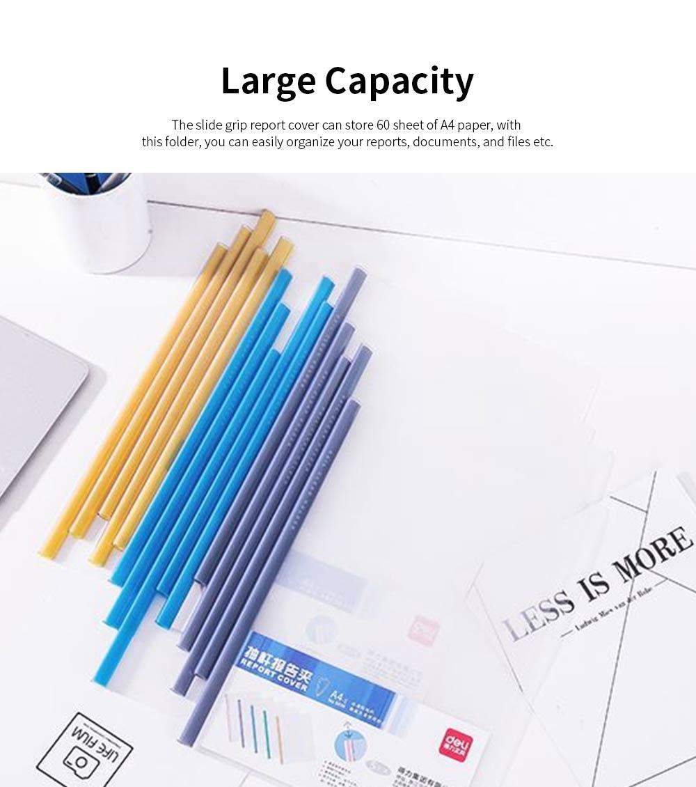 Slide Grip Report Cover for Students, Office Workers, Teachers, Thicken Slide Grip File Folder, 5PCS Random Colors Documents Folder 5