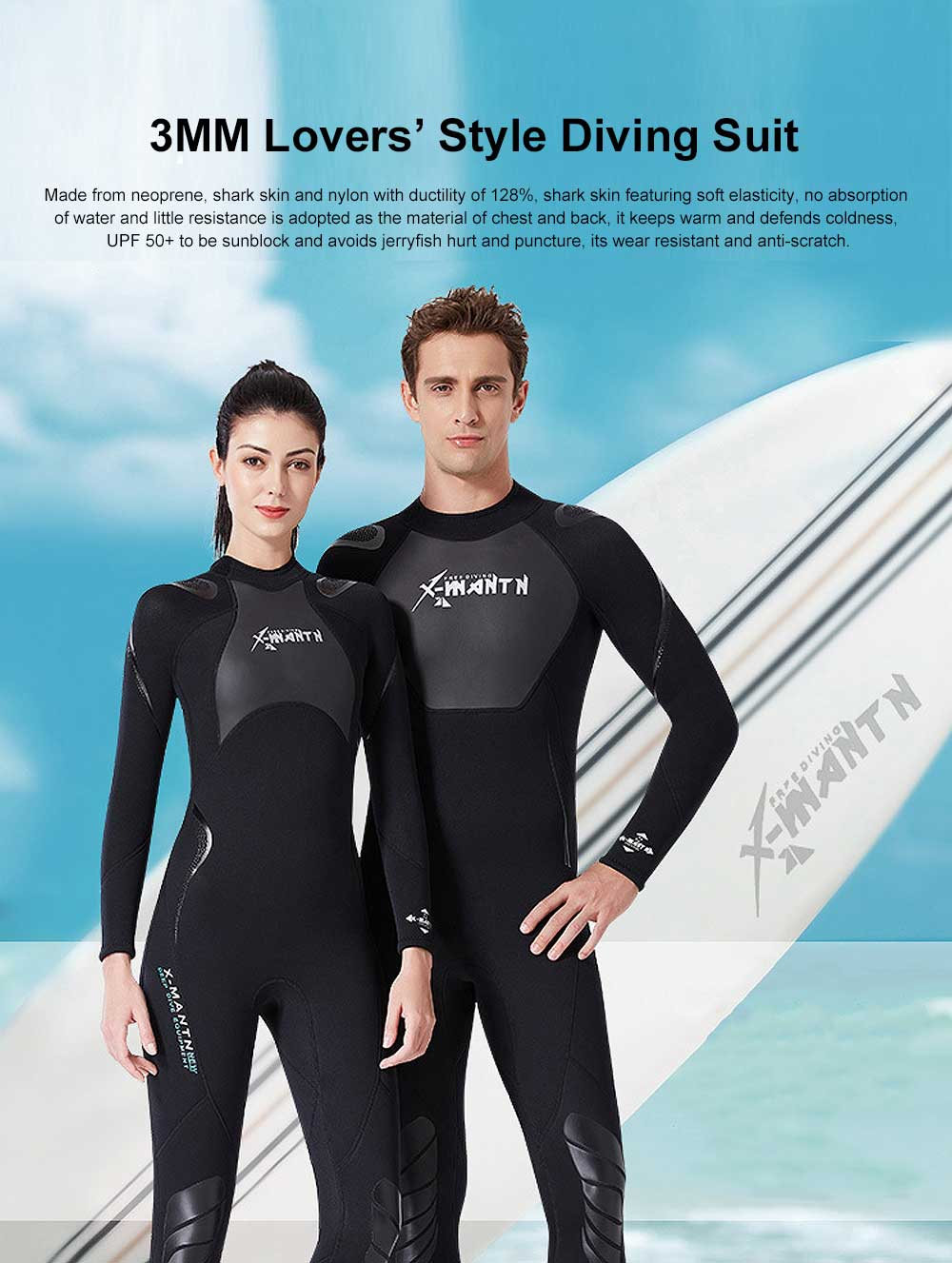 UV Protection Unisex Diving Dress, One-piece Warm-kept Diving Suit, Long Sleeve Swimwear for Snorkeling, Diving Winter Swimsuit 2019 0