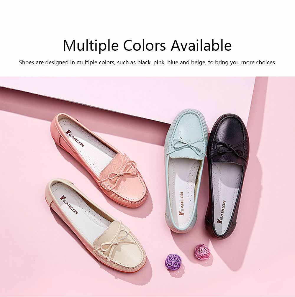 Sandal Leather PU Rubber Material, Flat-heeled Abrasion-resistant Foot Steady Adjustable Shallow Shoes for Mommy Nurse 4