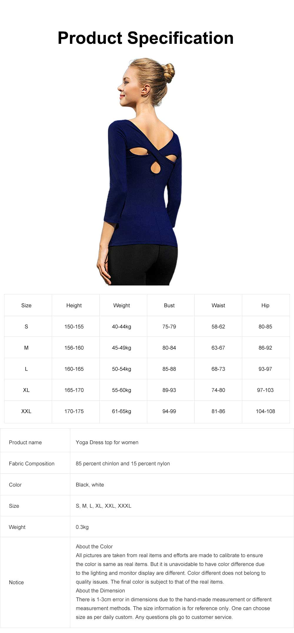 Yoga Clothes Tops for Women, Close-fitting Professional Yoga Dress, Beauty Back Hollow-out T-shirt for Body Exercises, Fitness, Yoga 7