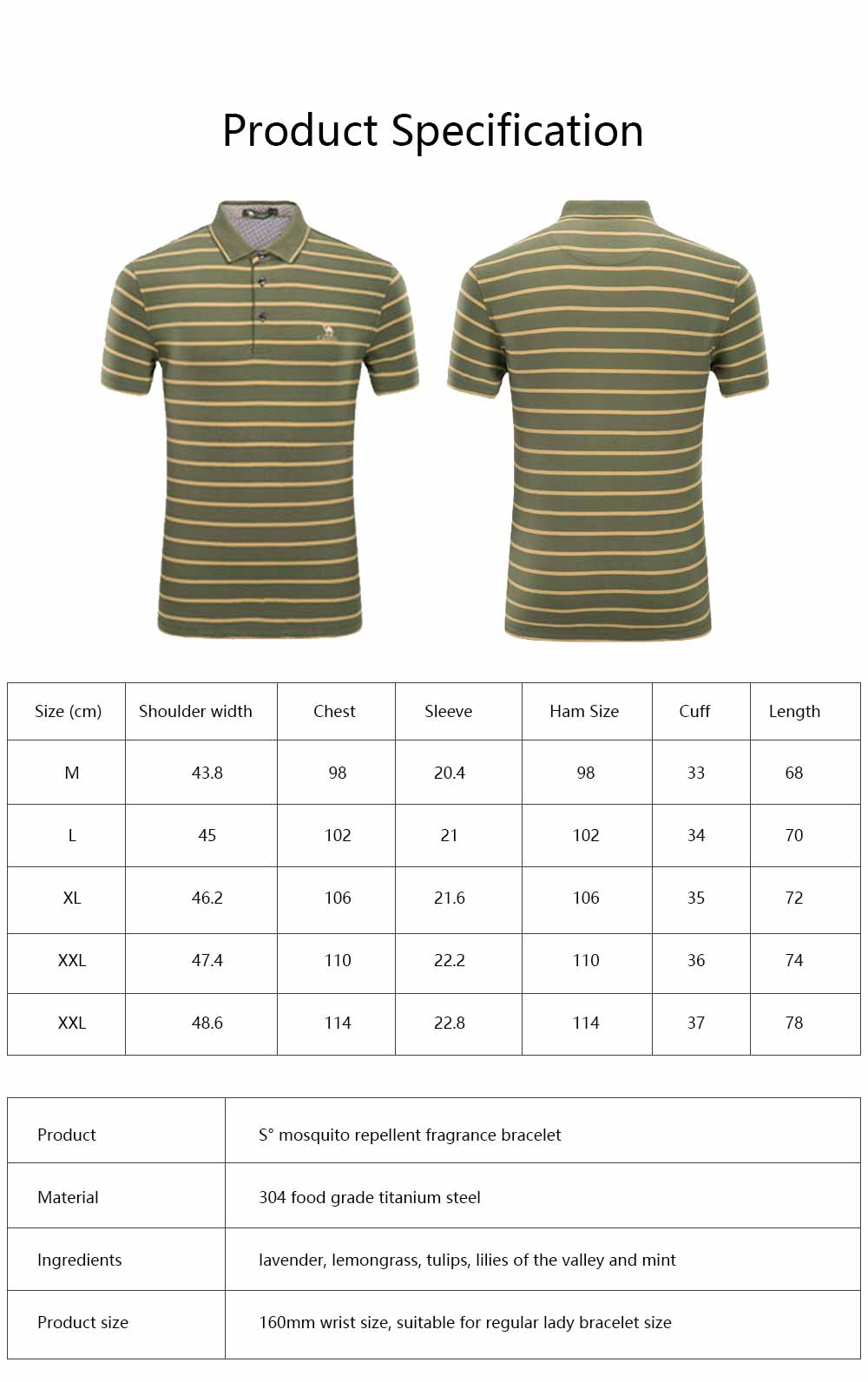 Male T-shirt Cotton Material Business Style Blouse, Peaked Lapel Stripe Printing Style Soft Casual Short Sleeve for Men POLO Shirt 6