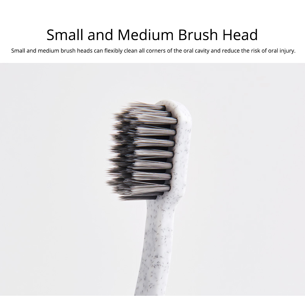 4 Pack Bamboo Charcoal Toothbrush, Adult Comfortable Soft Daily Use Tooth Brush for Home Hotel Traveling, One-off Toothbrush 1