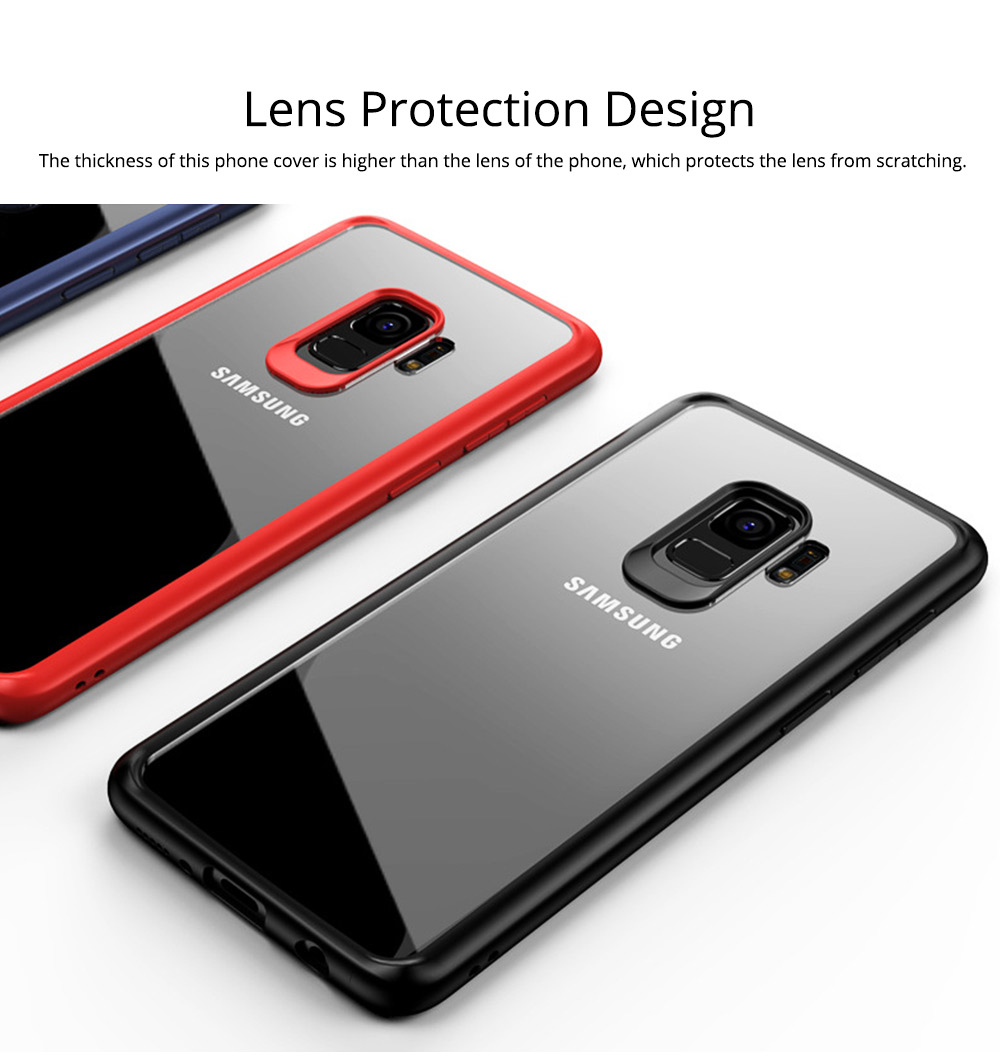 Compatible for Samsung S9 Plus Phone Full Protection Case Transparent, Minimalist Air Sac Design Breaking-proof All-sided Phone Back Cover for Samsung Galaxy S9 Plus 4