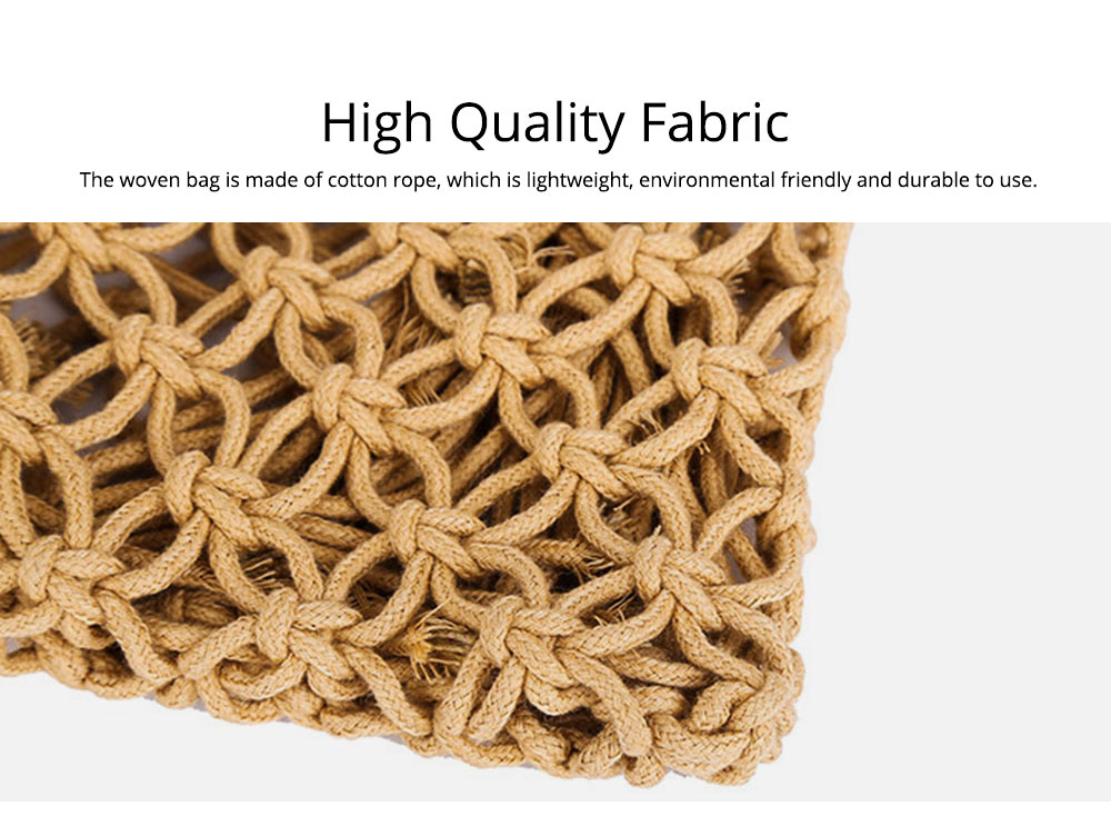 Handmade Woven Bag for Women, Rope Hollow Mesh Straw Bag, Beach Single Shoulder Bag Handbag 2019 New 1