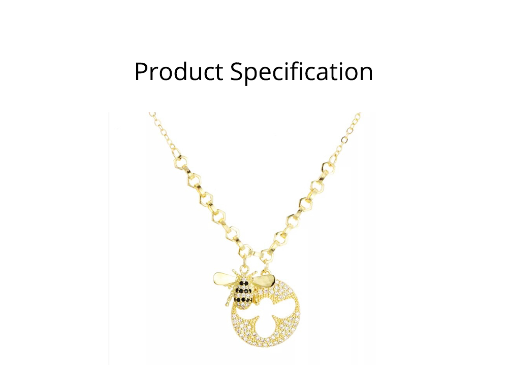 Lovely Little Bee Collarbone Pendant with Artificial Diamond, 925 Sterling Silver Chain with Pendant, Adjustable Dainty Necklace 5