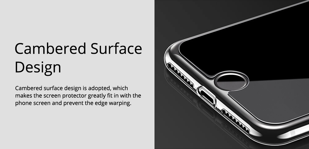 Tough Transparent Tempered Glass iPhone Screen Protector, Breaking-proof Scratching-proof Protective Film for iPhone 5 5S SE 6S Plus 7 8 X 2
