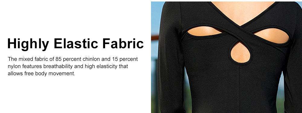 Yoga Clothes Tops for Women, Close-fitting Professional Yoga Dress, Beauty Back Hollow-out T-shirt for Body Exercises, Fitness, Yoga 3