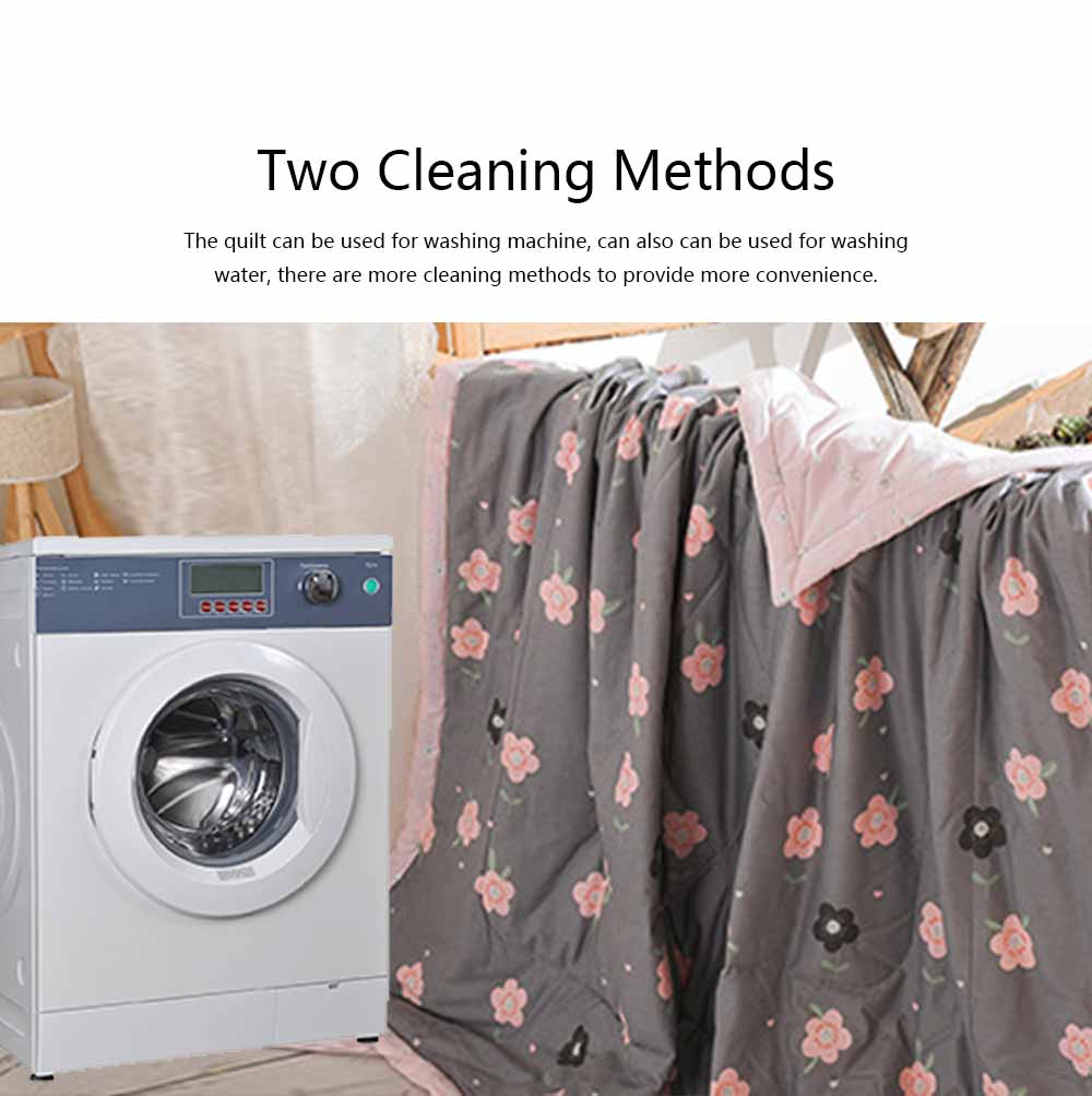 2019 Summer Quilt, Cotton Material Soft Environment Comforter Washing Machine Available, Softness Summer Refreshing Bedspreads 4
