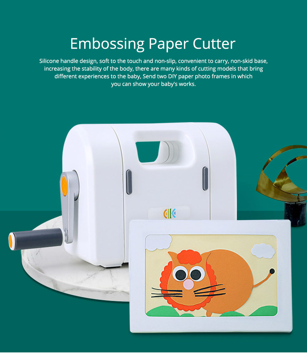 Children Embossing Paper Cutter Toy, Kindergarten DIY Handmade Materials Pack Hand-operated Paper Art Machine 0