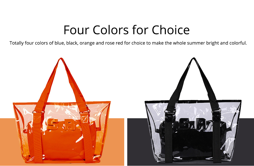 Western Style Tote Bag for Women 2019, Fashionable Exported Handbag Waterproof PVC Beach-bag, Women-dedicated Furla Transparent Crystal Jelly Bag 6