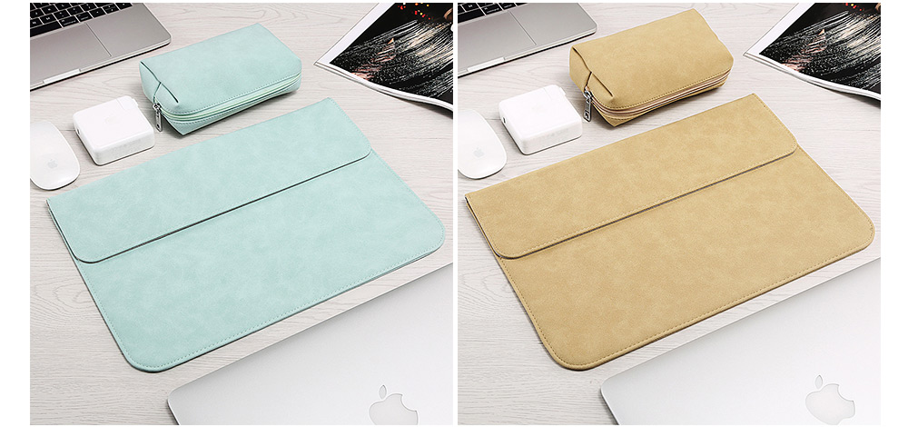 Thin Dull Polished Laptop Bag for Apple, Dell, Lenovo, MacBook Liner Package, Portable MacBook Dedicated Storage Bag with Clutch 5