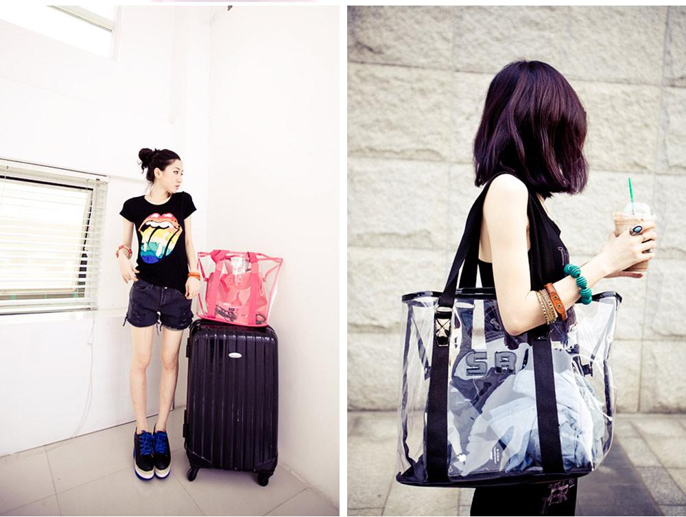 Western Style Tote Bag for Women 2019, Fashionable Exported Handbag Waterproof PVC Beach-bag, Women-dedicated Furla Transparent Crystal Jelly Bag 5