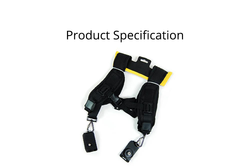 Professional Digital Camera Double Shoulder Straps, Comfortable Dual Shoulder Belt for SLR DSLR Camera Extreme Sports 8