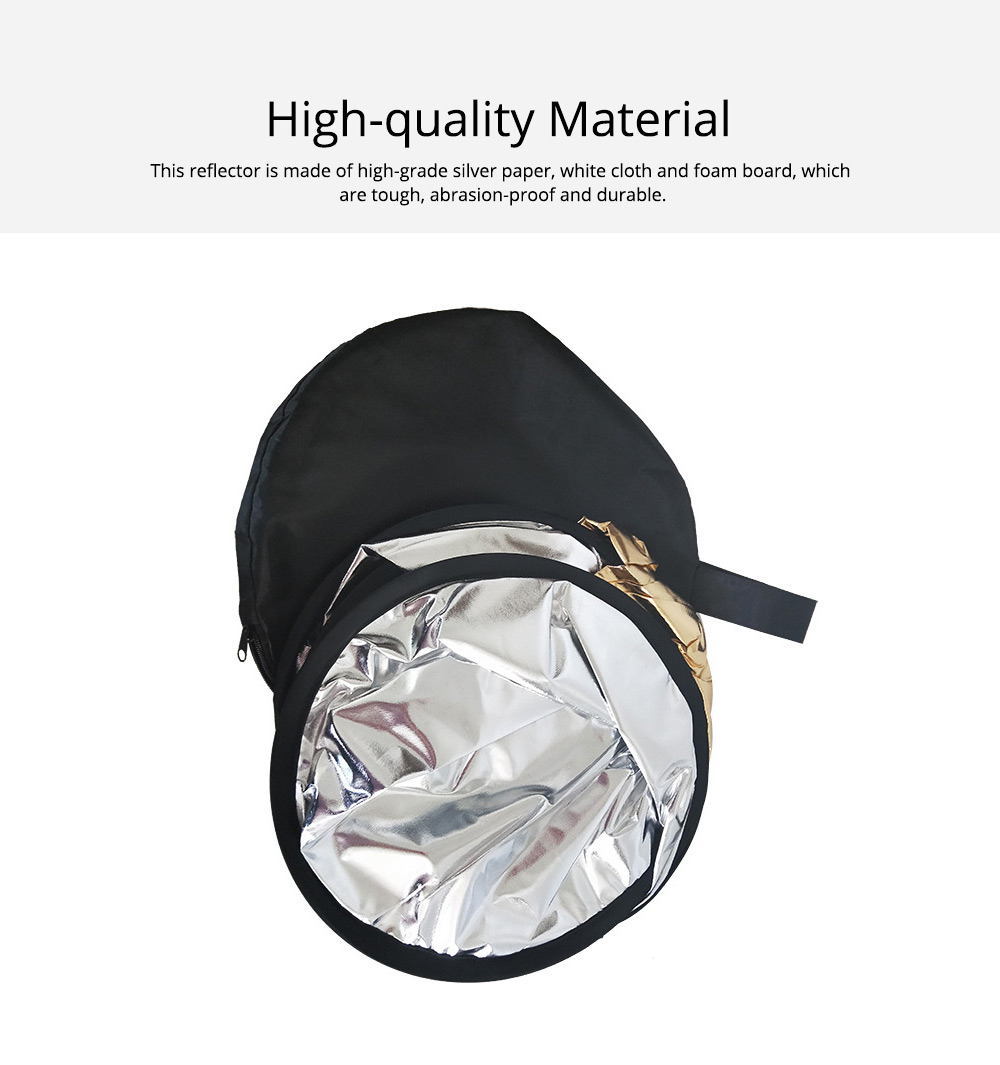 80cm Portable Foldable Silver Gold 2 in 1 Reflector, Collapsible Film Shooting Photography Disc Reflector 1