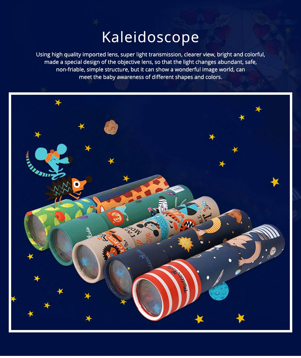 Colorful Kaleidoscope for Children, Science Experiment Toy, Classic Nostalgic Parent-child Interaction Educational Toys 0