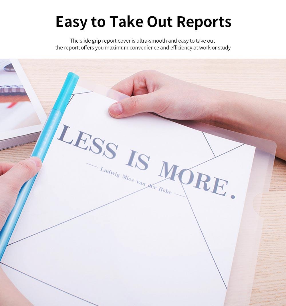 Slide Grip Report Cover for Students, Office Workers, Teachers, Thicken Slide Grip File Folder, 5PCS Random Colors Documents Folder 1